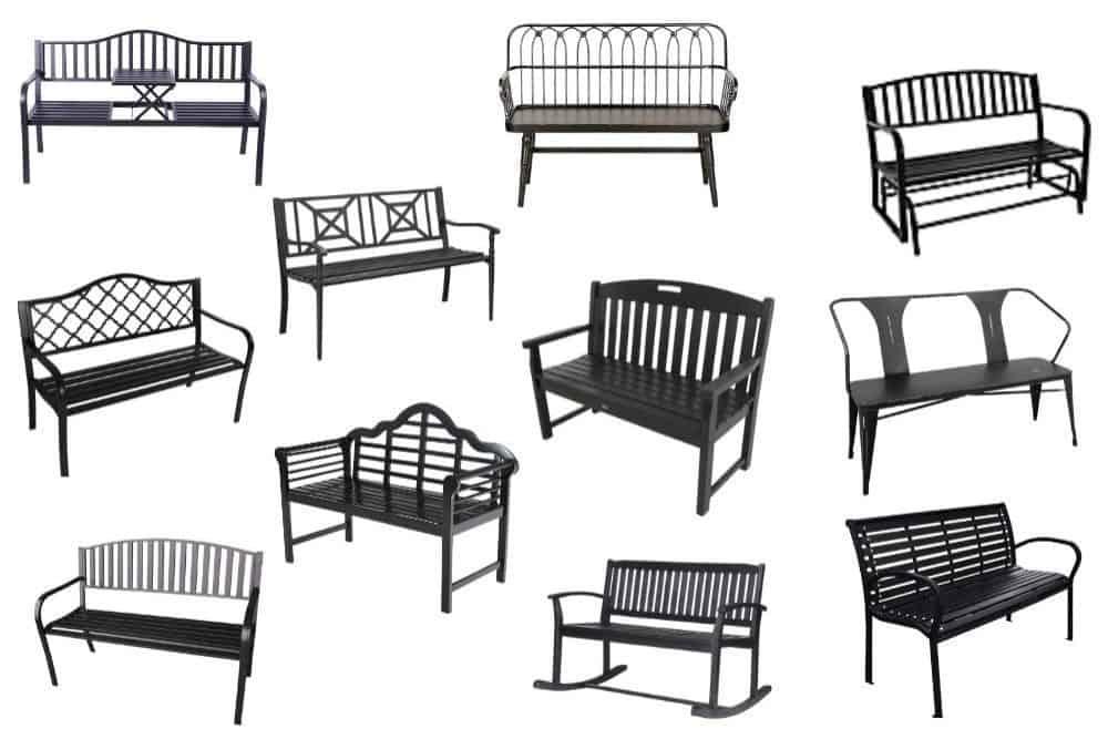 best outdoor black benches under 300