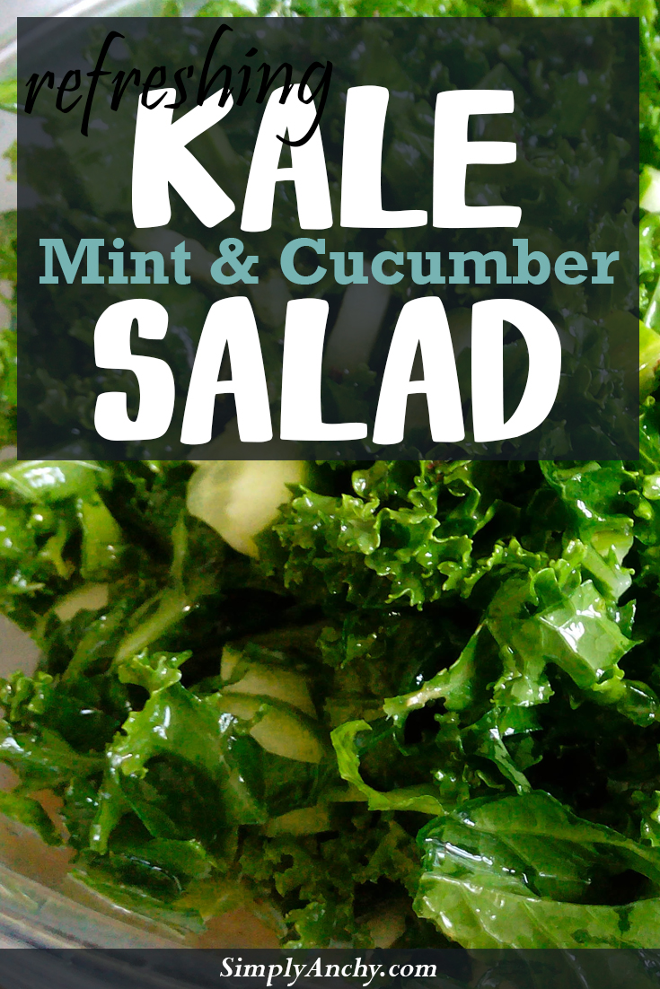 Kale salad is a great way to get extra greens to your nutrition. Kale is full of nutrients and fiber, and great for putting in salads. | Healthy Food Recipes | simplyanchy.com