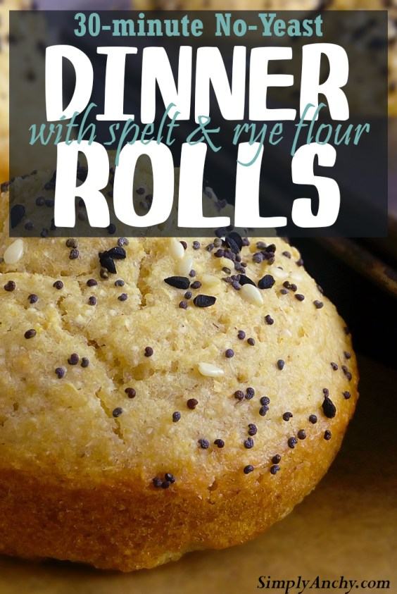 This is the recipe for No-Fail homemade dinner rolls, that are done in just under 30 minutes. They are so soft and fluffy, that you will be making them almost every day. | Healthy Food Recipes | simplyanchy.com