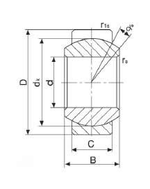 Ge12e Spherical Plain Bearing 12x22x10x7mm Simply Bearings Ltd