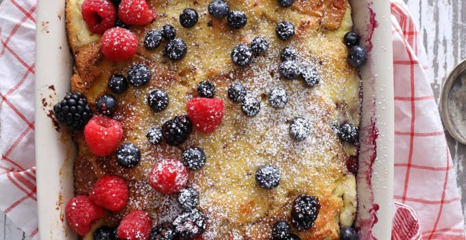 TRIPLE BERRY FRENCH TOAST BAKE WITH RICOTTA FIORELLA