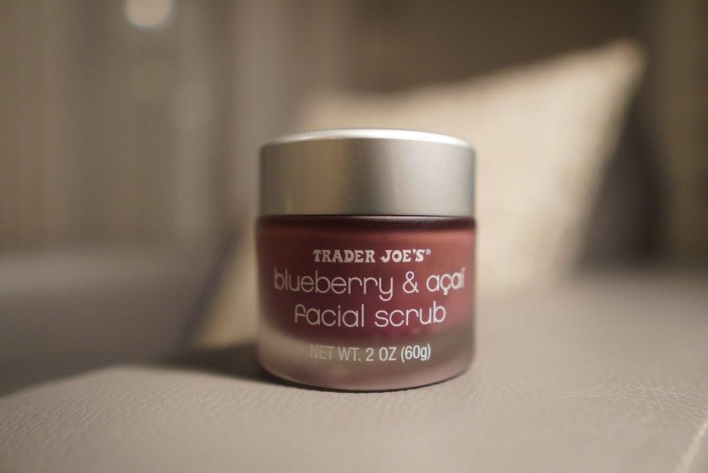 trader joe's beauty product blueberry & acai facial scrub