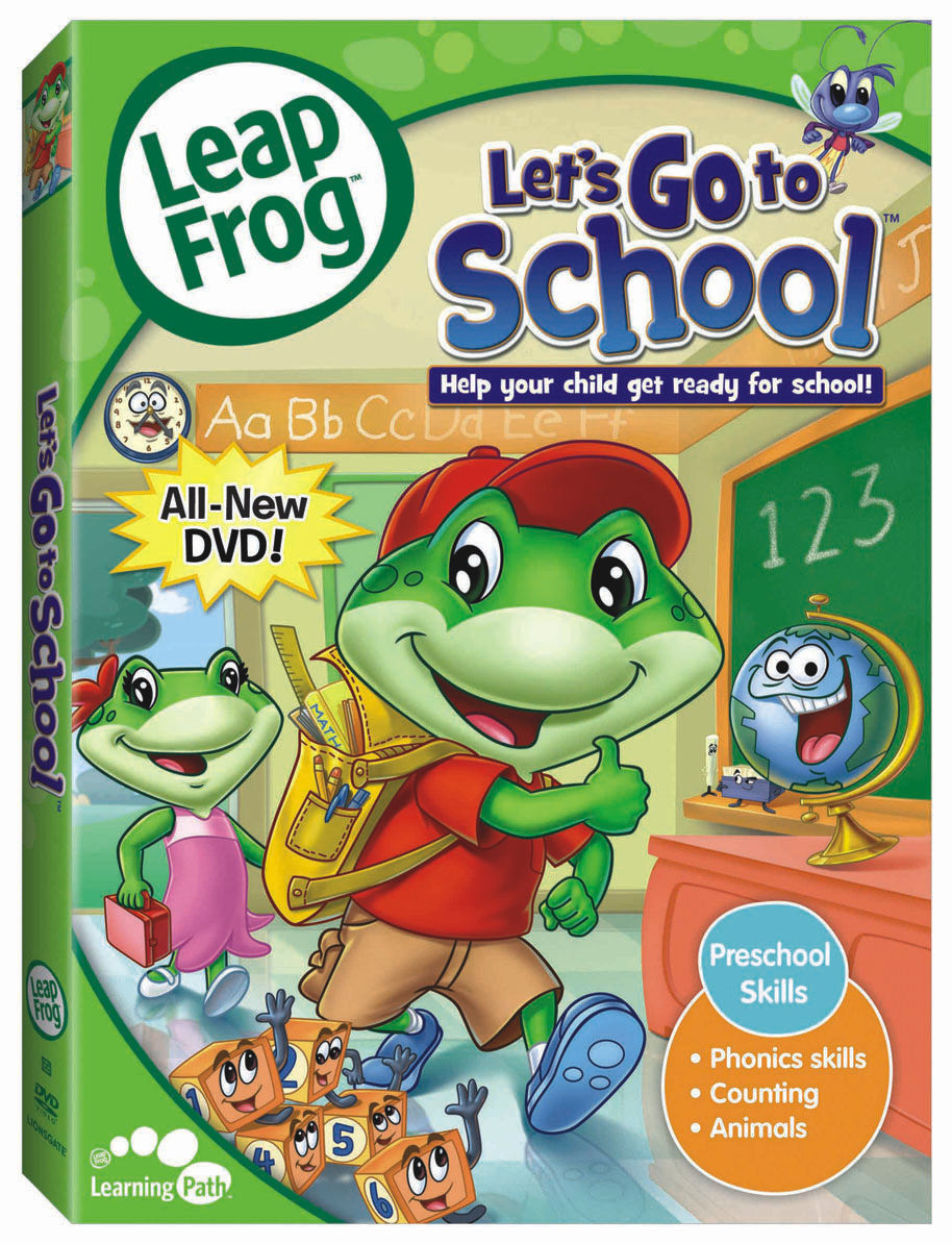 leapfrog let s go to school dvd review simply being mommy