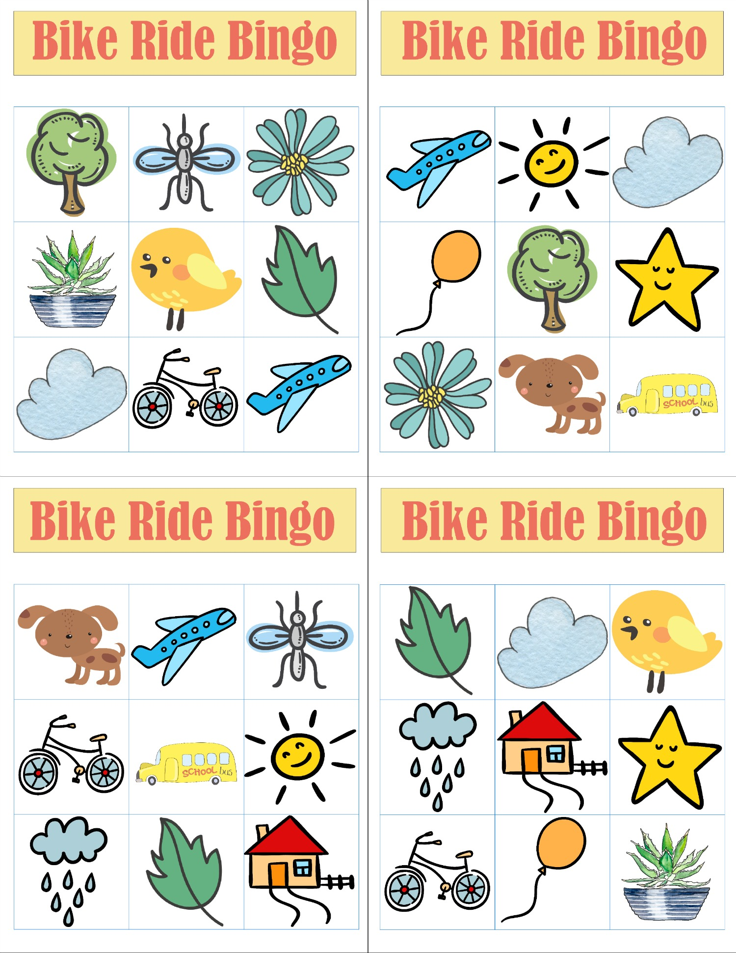 Bike Ride Bingo Printables Tips For Buying The Right Bike