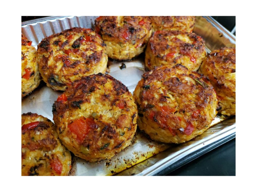 Properly Browned Mile-High Crab Cakes