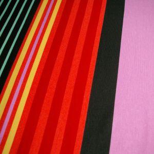 Lavender black red yellow mint striped ponte