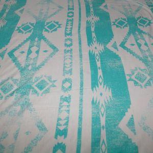 Mint Aztec Geometric Stripe Rayon Spandex