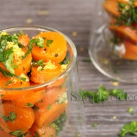 Tender carrot salad