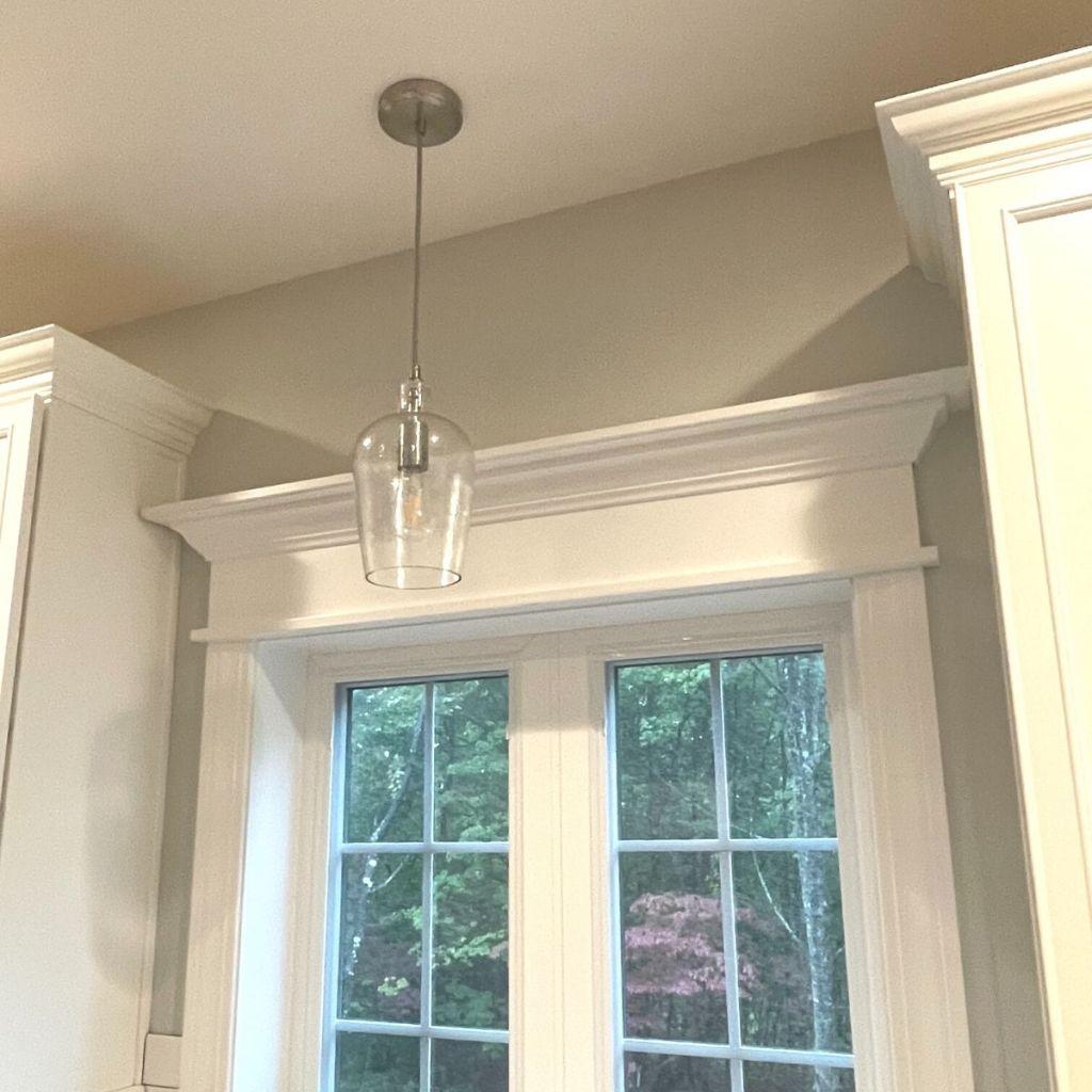 Modern farmhouse light fixture for kitchen