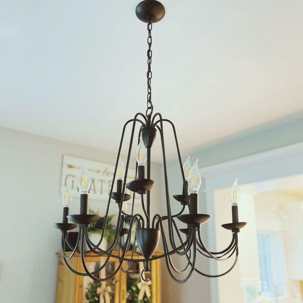 Modern Farmhouse Light Fixture - Chandelier in Dining Room