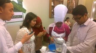 Grup kami mulai masak!