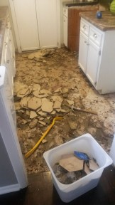 Kitchen tile demo - Aug. 2016