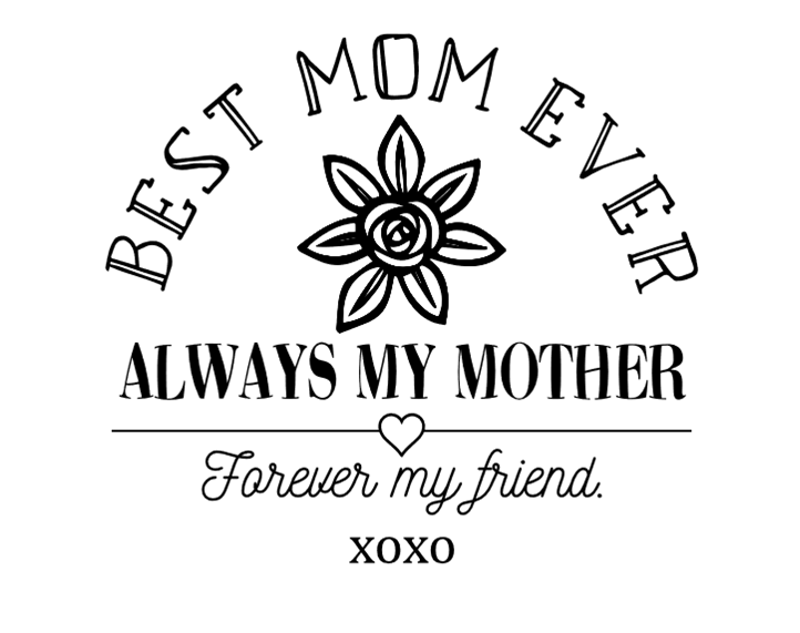 Best Mom Ever Free SVG File