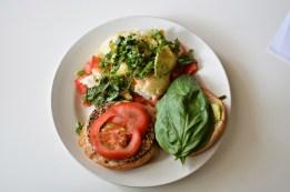 Vegan Mushroom Burger + side of Potatoes!