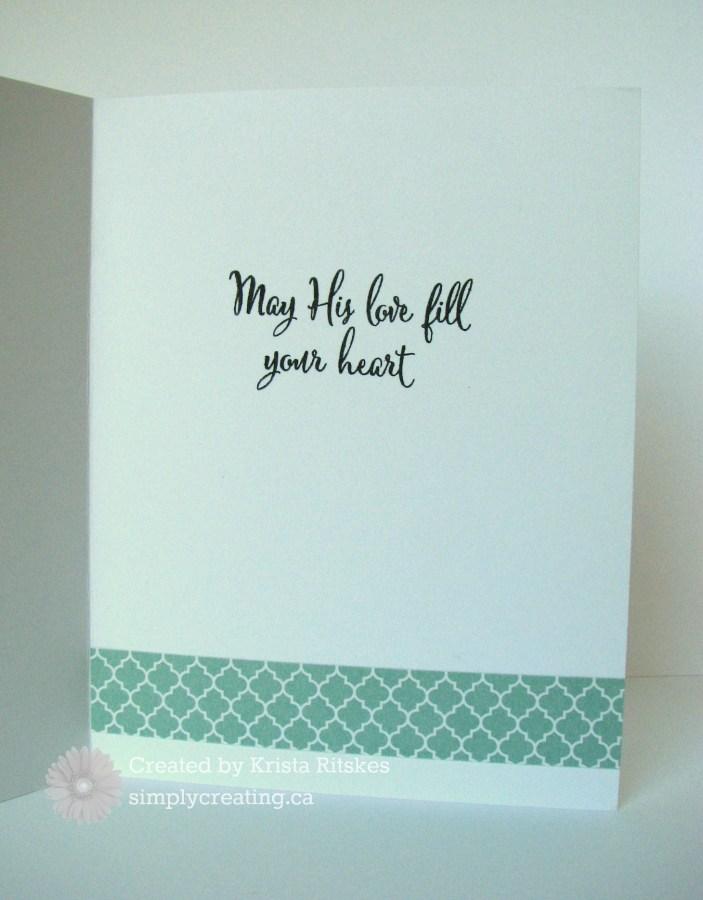 His Love card inside