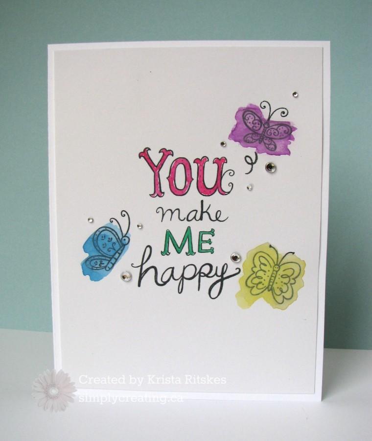 Mar SOTM butterfly card by Krista Ritskes #simplycreating