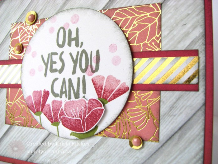Happy Times Encouragement close up by Krista Ritskes #simplycreating