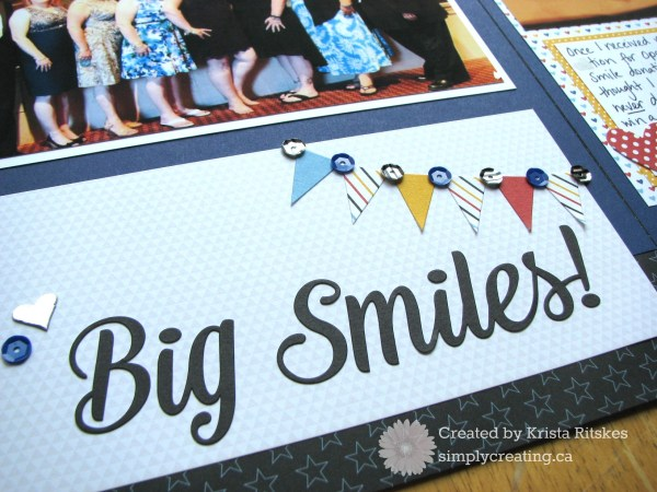 Magical Convention layout close up title by Krista Ritskes #simplycreating