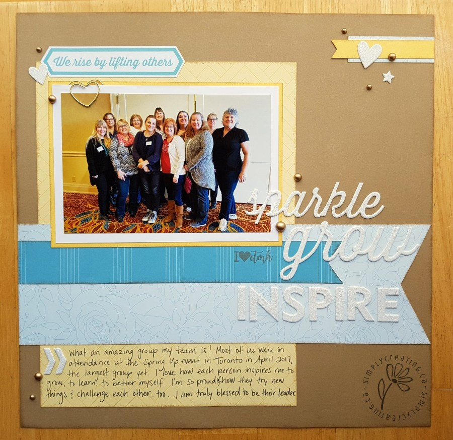 Whimsy Fundamentals layout by Krista Ritskes #simplycreating