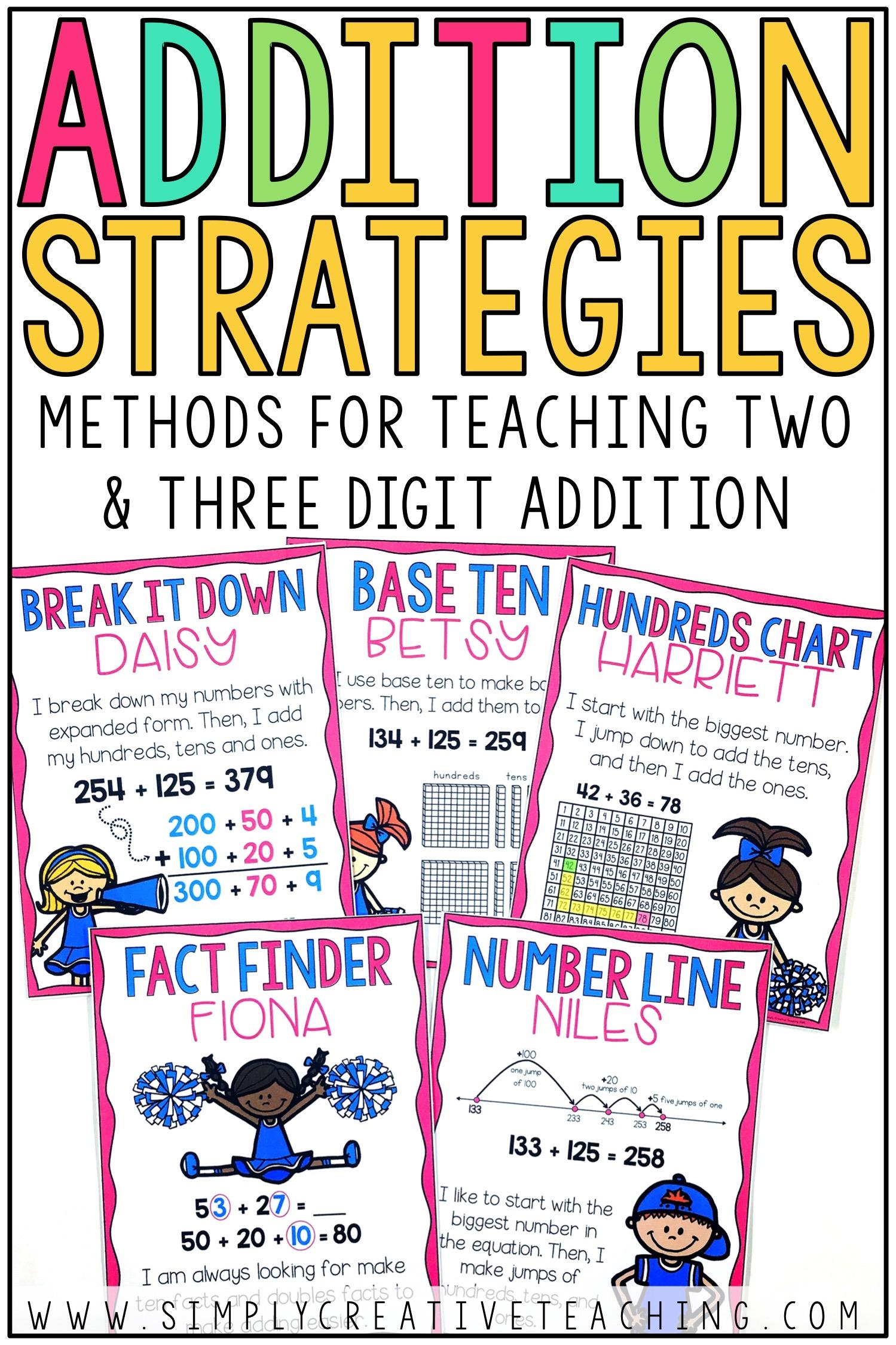 2 3 Digit Addition Strategies