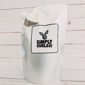 Purchase any Simply Curls, Co. products in this refill pouch. Can be sent back and refilled too!
