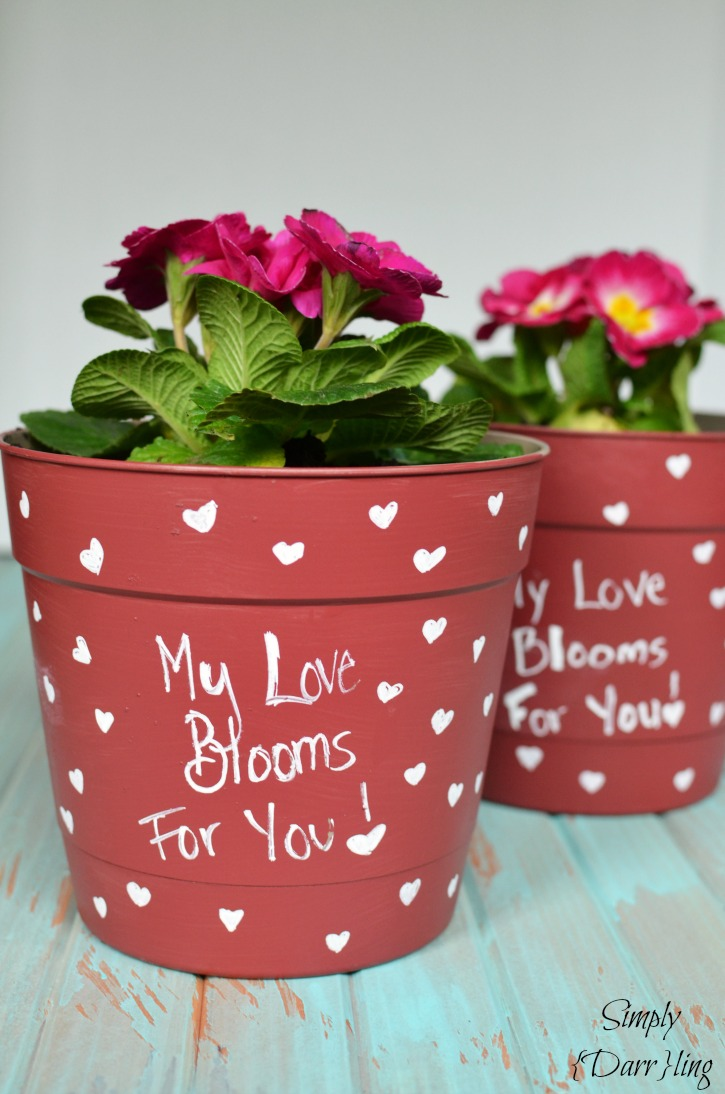 A Valentines Day Flower Pot Simply Darrling