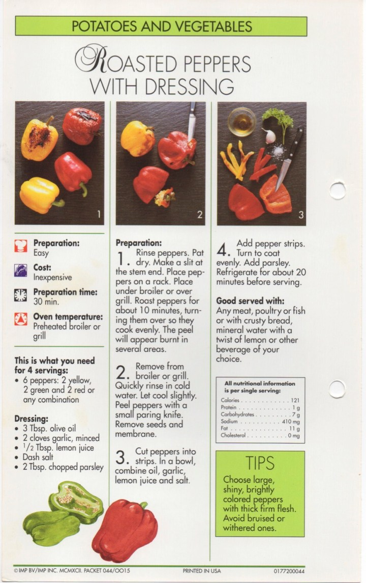 4-8 Roasted Peppers with Dressing1