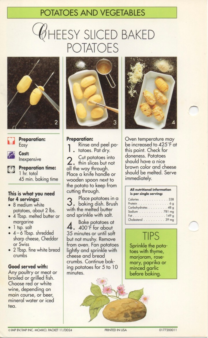 4-12 Cheesy Sliced Baked Potatoes1