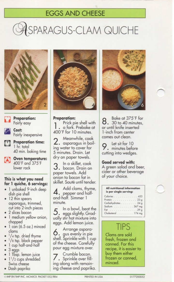 5-39 Asparagus-Clam Quiche1