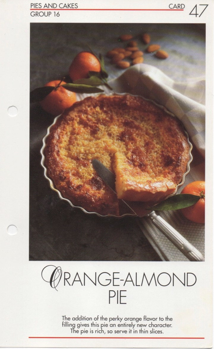 16-47 Orange-Almond Pie