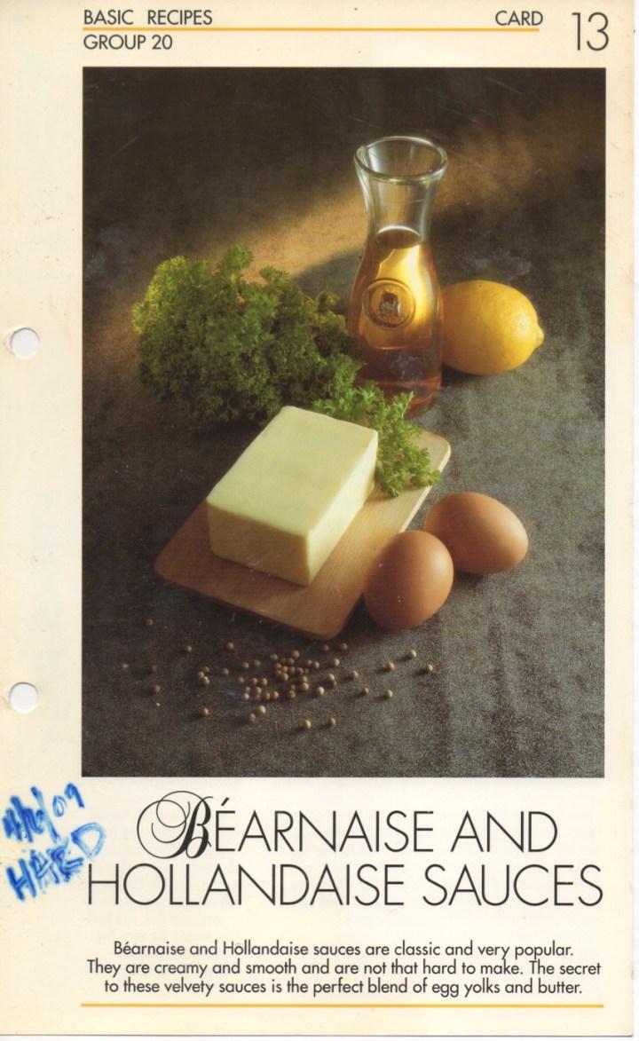 20-13 Bearnaise and Hollandaise Sauces