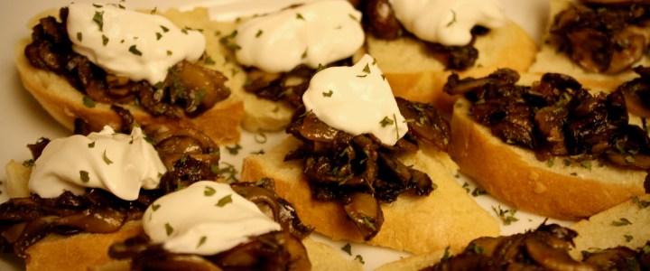 1-13: Crusty Toast with Mushrooms