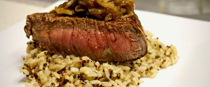 8-17: Pan-Fried Steak with Onions