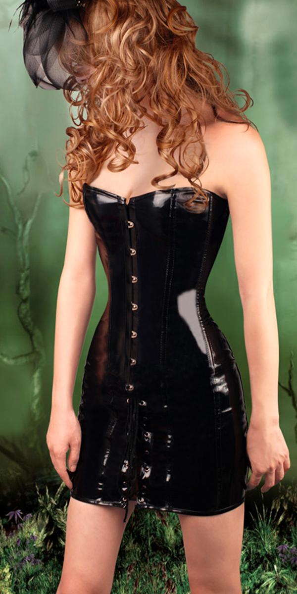 gothic steampunk leather burlesque corset dress sexy womens
