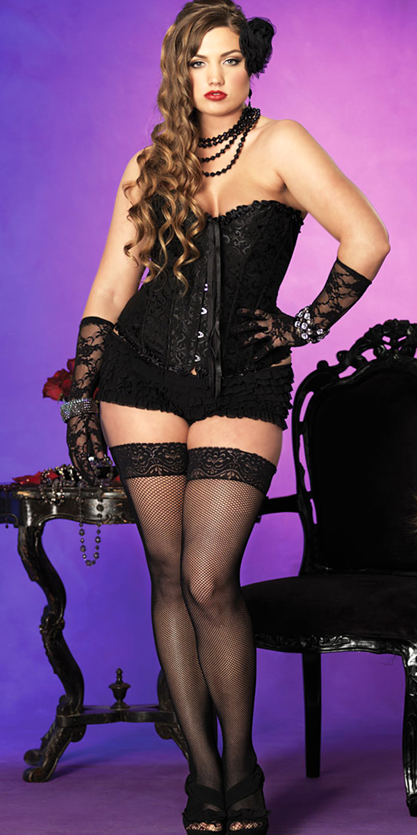 plus size black sasha brocade corset sexy womens