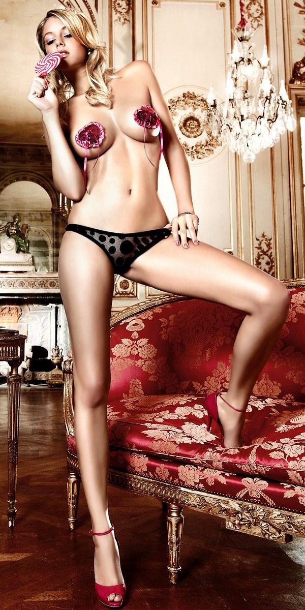 transparent black dot panties sexy womens