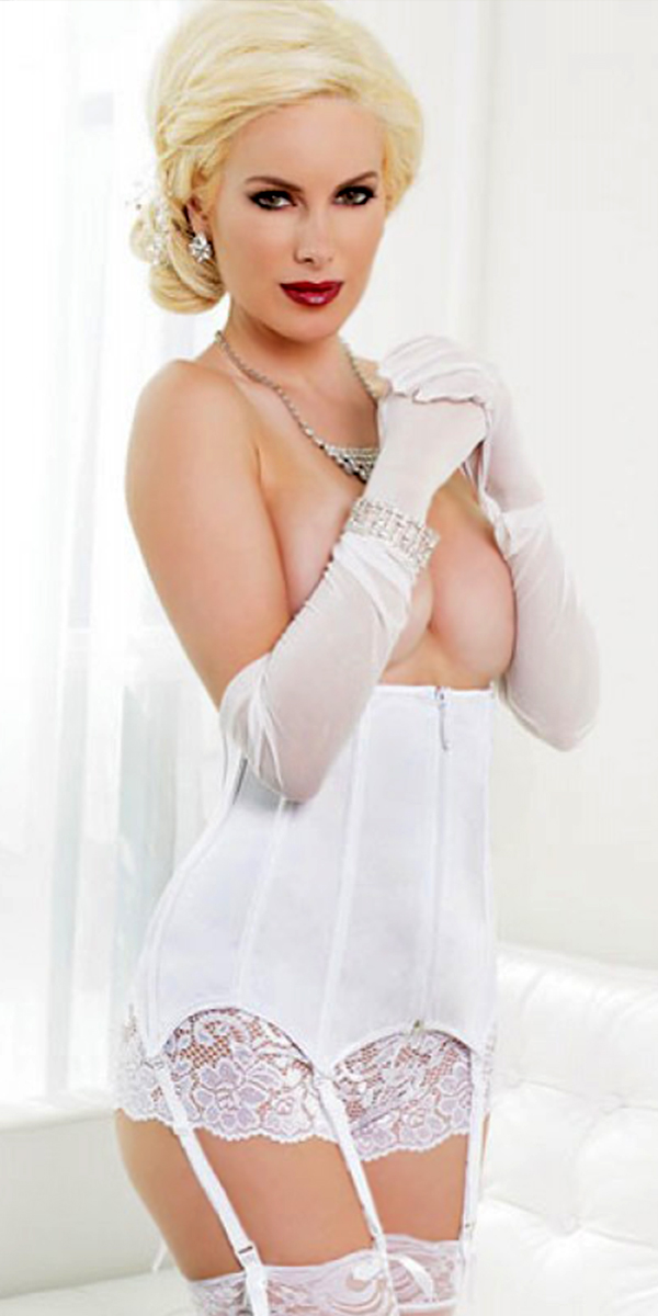 white hot waist bustier sexy womens