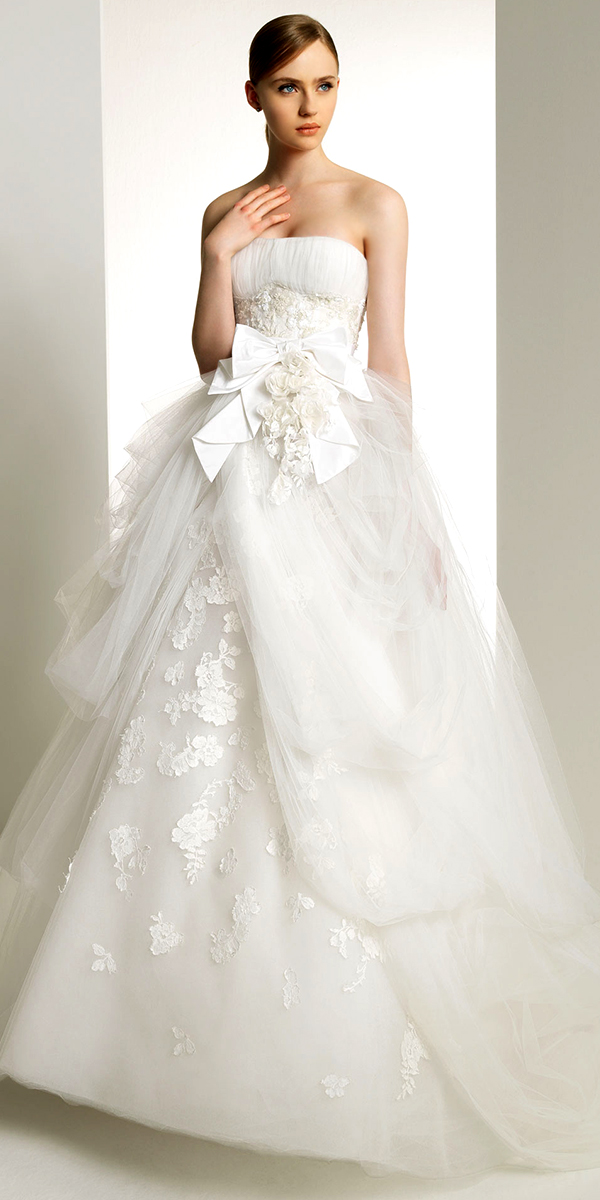 a-line flower lace tulle wedding dress sexy womens bridal gowns