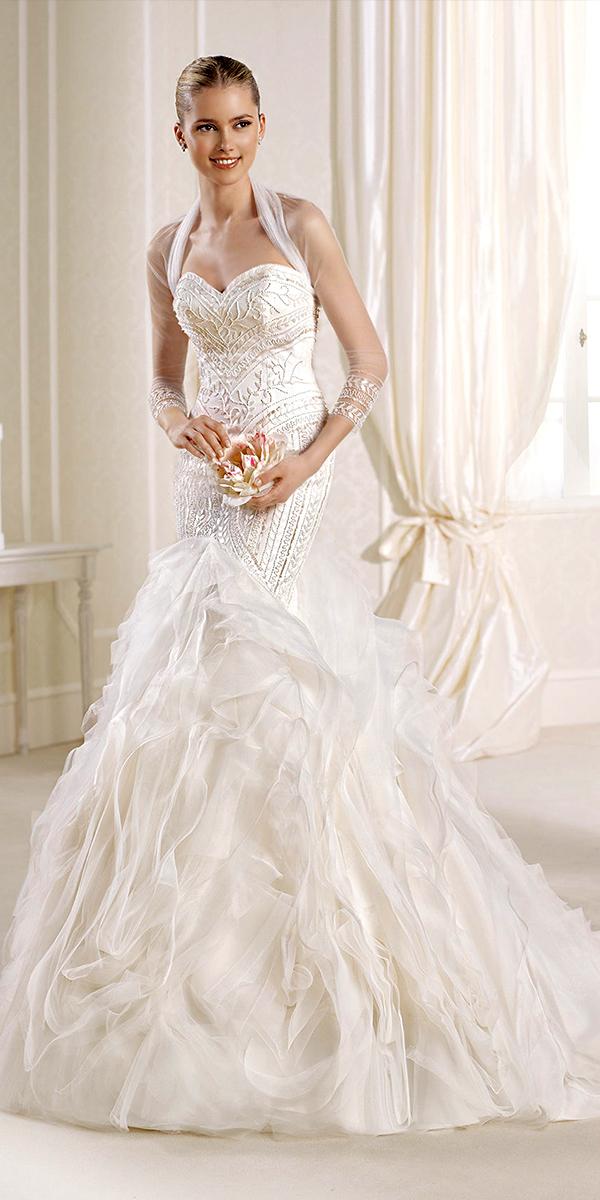 pearl bodice la sposa wedding dress sexy womens bridal gowns