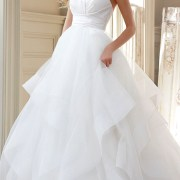 silk radzmir crossover bodice tulle wedding dress sexy womens bridal gowns