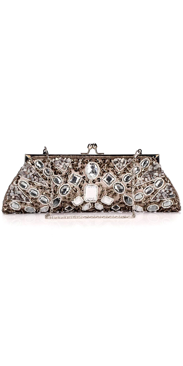 handmade bridal handbag with rhinestone beads sexy women's wedding accessories purse