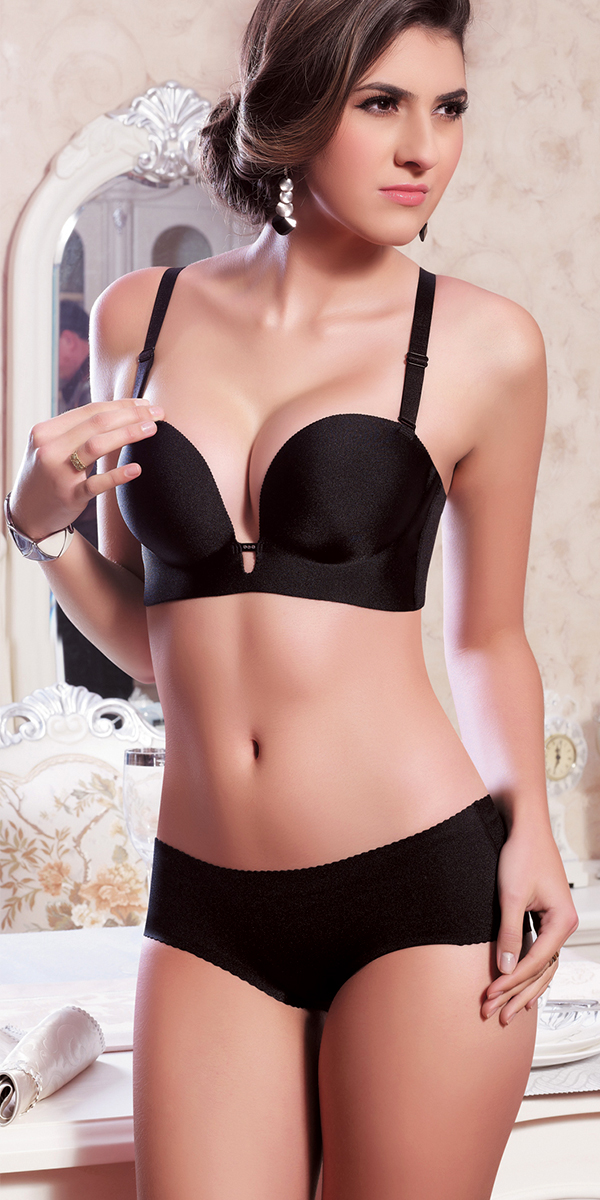 deep-v push-up bra set sexy womens underwear