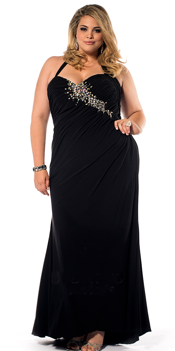 plus size crystal halter evening dress sexy womens lingerie