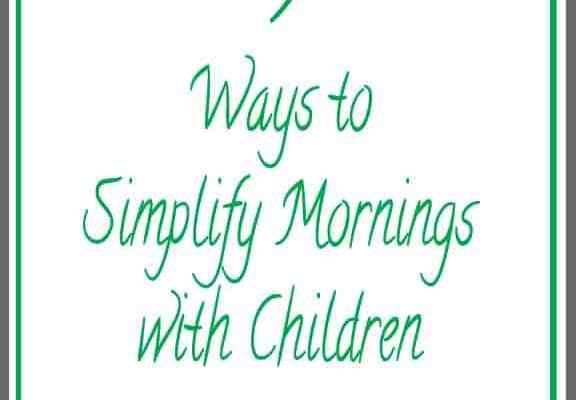 5 Ways to Simplify Your Mornings with Children + Giveaway #FlipTopFrenzyFree