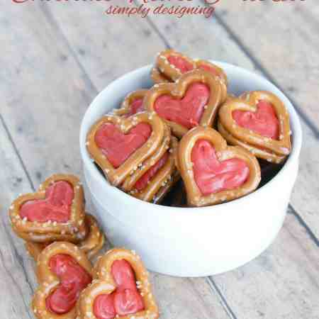 Chocolate Heart Pretzels