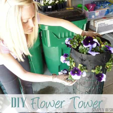 DIY Flower Tower {Part 3} #DigIn #HeartOutdoors #Spring #sponsored