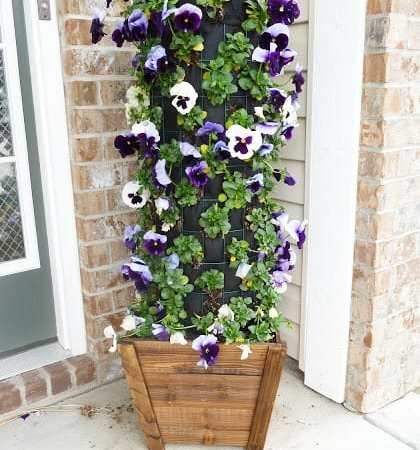 DIY Flower Tower {Part 4} #DigIn #HeartOutdoors #Spring #sponsored