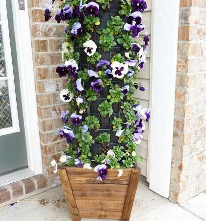 DIY Flower Tower {Part 4} #DigIn #HeartOutdoors #Spring #sponsored