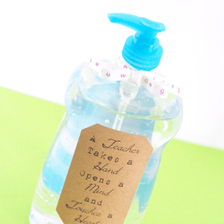 Hand Sanitizer Teacher Gift
