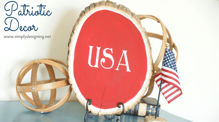 Patriotic Tree Slice Decor + Giveaway